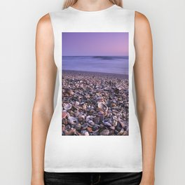 The Beach Of The Shells Biker Tank