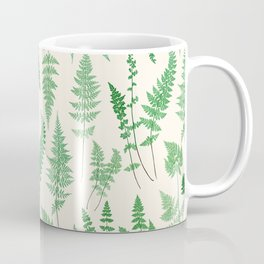 Ferns on Cream I - Botanical Print Coffee Mug