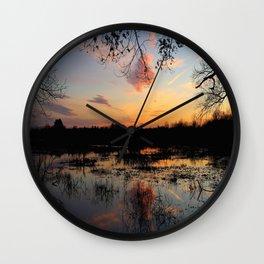 Ipswich River Sunset Wall Clock