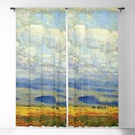 Classical Masterpiece 'Oregon Landscape' by Frederick Childe Hassam Blackout Curtain