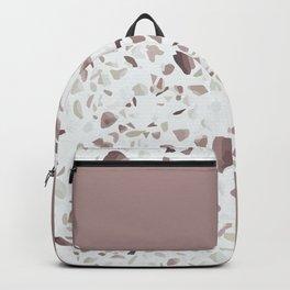 Terrazzo Texture Antique Pink #6 Backpack