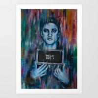 Elvis Presley Army Mugshot Art Print