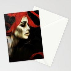 portrait of sadness Stationery Cards