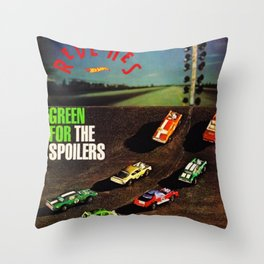 1970 Hot Wheels Redline Spoilers Introduction Catalog Poster No 1 Throw Pillow