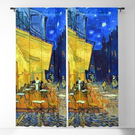 Vincent van Gogh Cafe Terrace at Night Blackout Curtain