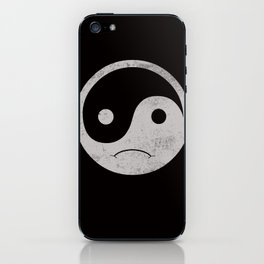 yin yang smiley ;-( iPhone Skin