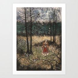 Raevflickan Art Print