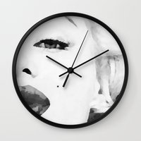 marilyn Wall Clocks featuring Marilyn by Xchange Art Studio