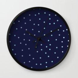 Stars on a Dark Sky Wall Clock