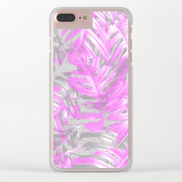 silver and musk, foliage Clear iPhone Case