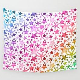 Rainbow Starfish Pattern Wall Tapestry