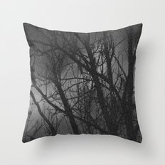 Clouds in moonlight Throw Pillow