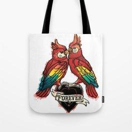 Lover Parrots Tote Bag