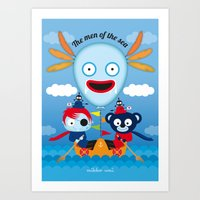 hook Art Prints featuring Hook by mikko umi