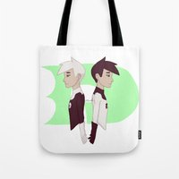 danny ivan Tote Bags featuring Danny by Dante Blue