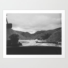 SOMEWHERE WITH HER (B+W) Art Print