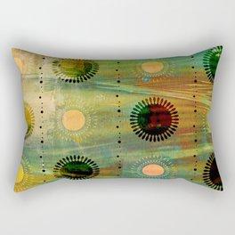 Sunburst Discs of Joy Rectangular Pillow