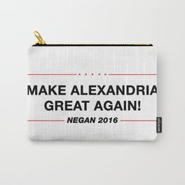 Make Alexandria Great Again - Walking Dead Negan Trump Parody Carry-All Pouch