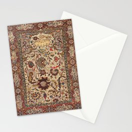 Safavid Silk Metal-Thread Persian Rug Print Stationery Cards