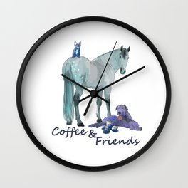 Coffee and Friends Wall Clock