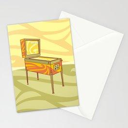 Retro games pinball machine Stationery Cards