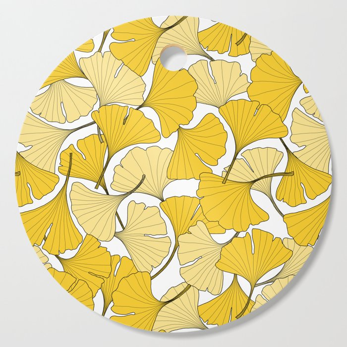 ginkgo leaves (yellow) Cutting Board