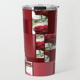 Red Rose with Light 1 Art Rectangles 8 Travel Mug