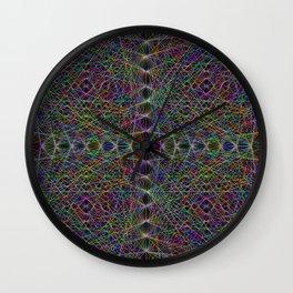 Lasers Net Wall Clock