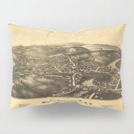 Aerial View of Walden, Orange County, New York (1887) Pillow Sham