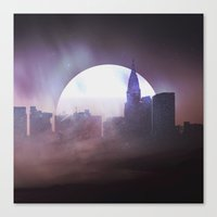 skyline Canvas Prints featuring Skyline by Frank Kupshik