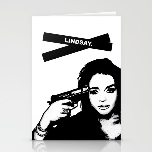 Lindsay Lohan. Stationery Cards