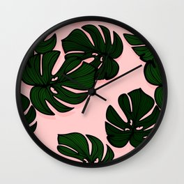 Exotic plant leaves Wall Clock
