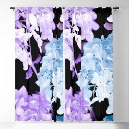 Hydrangea Branches On A Black Background #decor #buyart #society6 Blackout Curtain