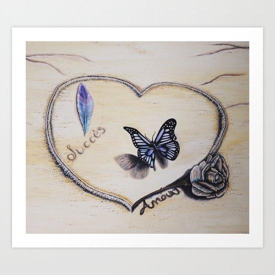 L'amour laisse ses traces Art Print