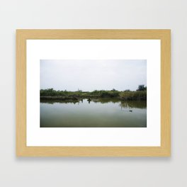 Peaceful lagoon Framed Art Print