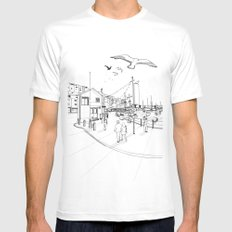 Brixham White Mens Fitted Tee MEDIUM
