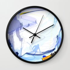 Downhill Skiing Wall Clock