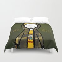 jesse pinkman Duvet Covers featuring Jesse Pinkman (Breaking Bad) by Ashley Nada by Ashley Nada