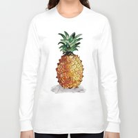 pineapple Long Sleeve T-shirts featuring Pineapple by Bridget Davidson