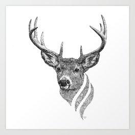 Deer of Yggdrasil  Art Print
