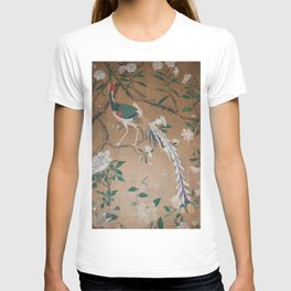 Antique French Chinoiserie in Tan & White T-shirt