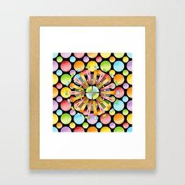 Candy Rainbow Mandala Framed Art Print