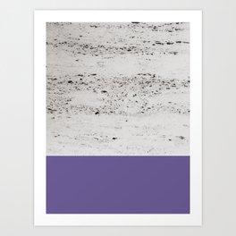 Ultra Violet on Concrete #3 #decor #art #society6 Art Print