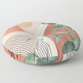 Nature Geometry IV Floor Pillow