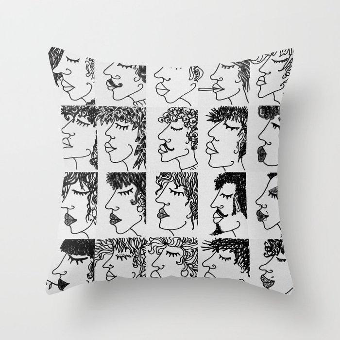 humans Throw Pillow