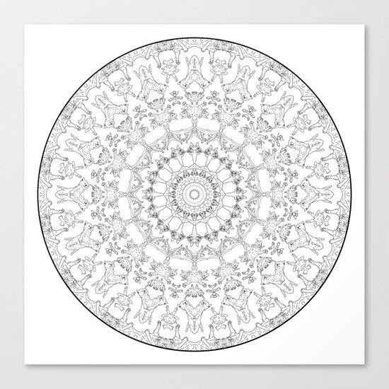 Cat Mandala Doodle Canvas Print