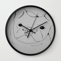 danny ivan Wall Clocks featuring Ivan by seekmynebula