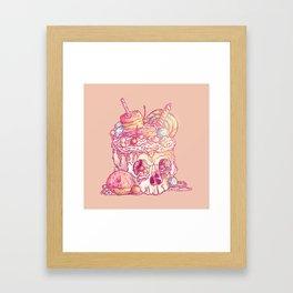 Skull No.3 // The Yummy One Framed Art Print