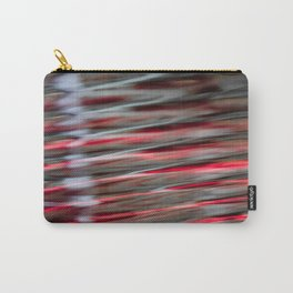 Red Black Ripples Carry-All Pouch