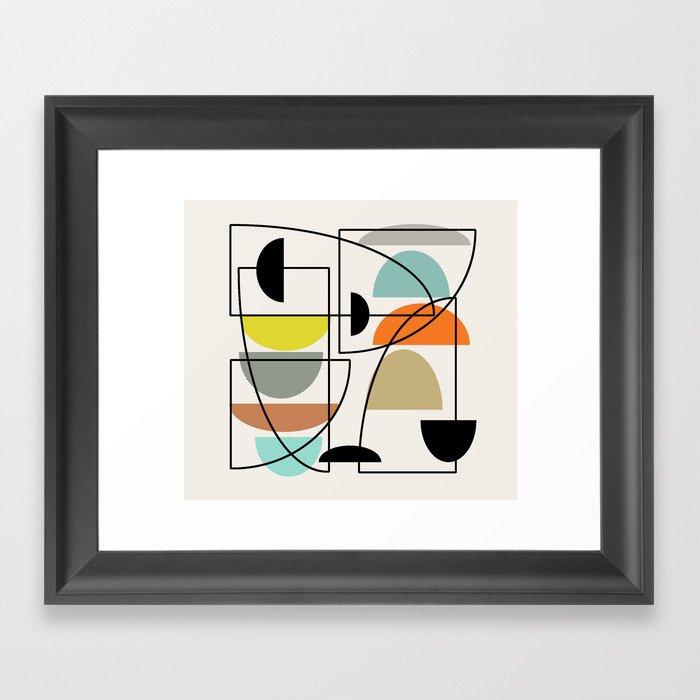"Mid Century Modern ""Bowls"" Framed Art Print"